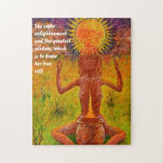 Shaman meditating - Ethnic Puzzle
