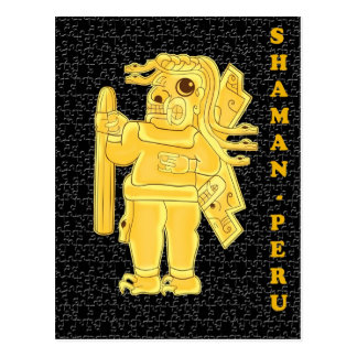 SHAMAN-PERU POSTCARD