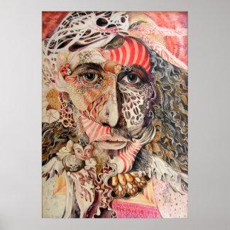Shaman Portrait Poster
