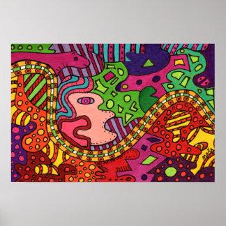 Shaman Song Abstract Art Poster