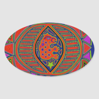 Shaman Turtle Spirit Oval Sticker