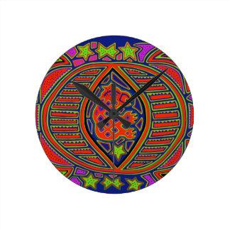 Shaman Turtle Spirit Round Clock