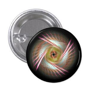 Shamanic feathered eye buttons