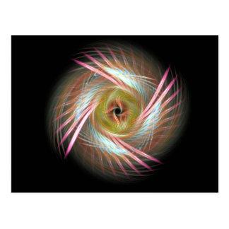 Shamanic feathered eye postcard