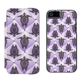 Shamanic Sea Turtles Pattern - violet Incipio Watson™ iPhone 5 Wallet Case