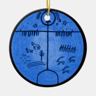 Shamanism Worlds Ceramic Ornament