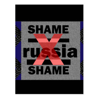 SHAME RUSSIA Dictator Shameful Fear Trouble Insane Postcard