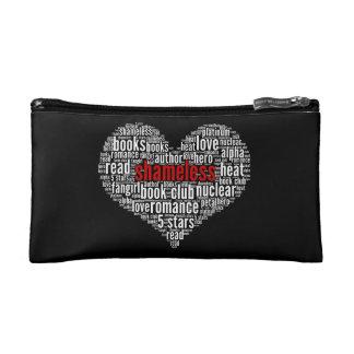Shameless Word Cloud Heart on Black (C) Makeup Bag