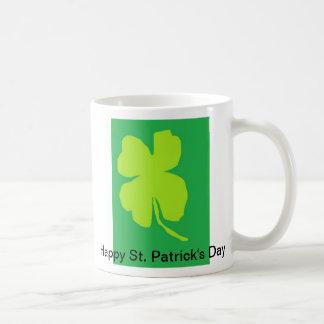 Shamrock '11, Happy St. Patrick's Day! Basic White Mug