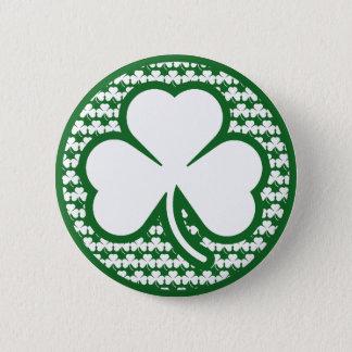 Shamrock 6 Cm Round Badge