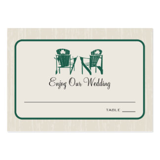 Shamrock Adirondack Chairs Seating Escort Card Pack Of Chubby Business Cards