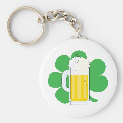 Shamrock and Beer Keychains