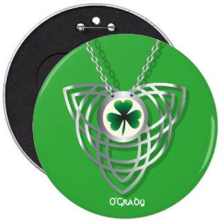 Shamrock and Celtic Knot 6 Cm Round Badge