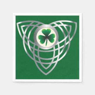 Shamrock and Celtic knot Disposable Napkins