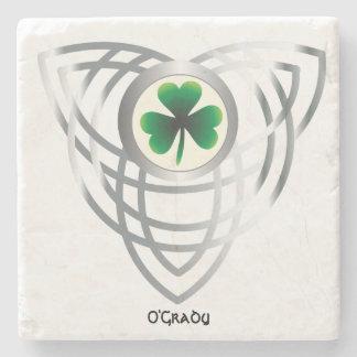 Shamrock and Celtic Knot Stone Coaster