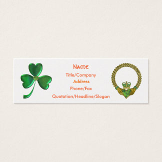 Shamrock and Claddagh Business Card Template