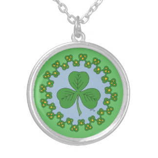 Shamrock and Green Knotwork Necklace
