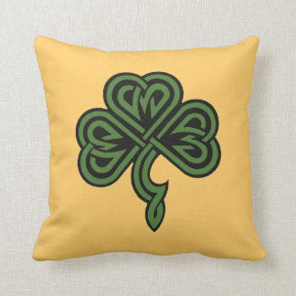 shamrock and irish blessing cushion