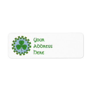 Shamrock and Knotwork Return Address Label