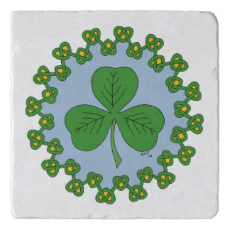 Shamrock and Knotwork Trivet