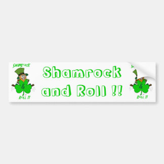 Shamrock and Roll Bumper Stickers