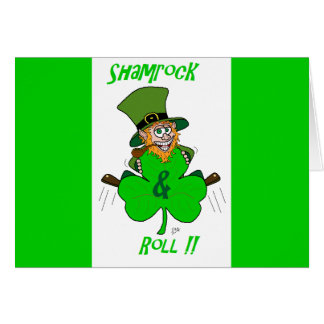 Shamrock and Roll Greeting Card