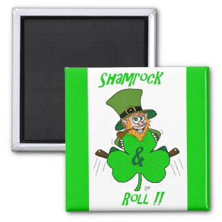 Shamrock and Roll Refrigerator Magnet