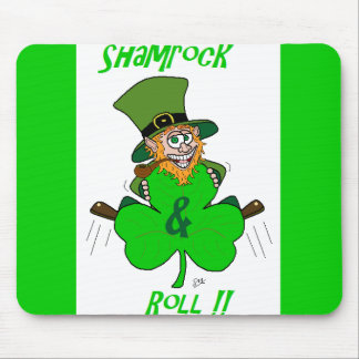 Shamrock and Roll Mouse Pad