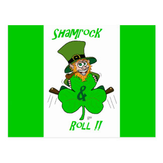 Shamrock and Roll Postcard
