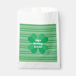 Shamrock And Zigzags Favour Bag