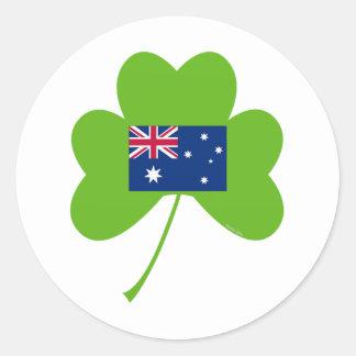 Shamrock-Australia Round Sticker