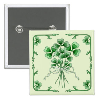 Shamrock Bouquet 2 15 Cm Square Badge