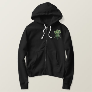 Shamrock Bouquet Embroidered Hoodie