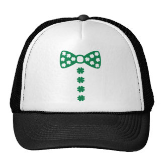Shamrock bow tie tuxedo trucker hat