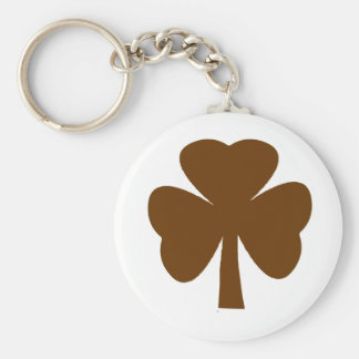 Shamrock Brown The MUSEUM Zazzle Gifts Key Chain