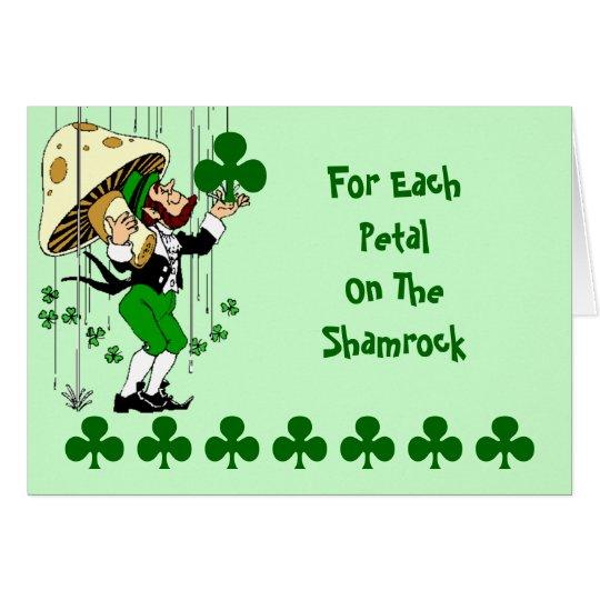 Shamrock Card Irish Blessing St. Patrick's Day