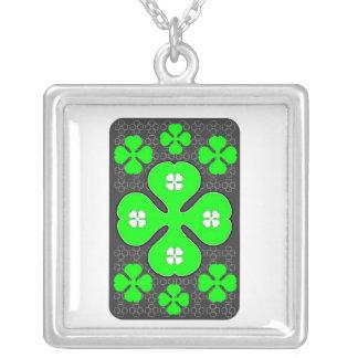 Shamrock Card Custom Necklace