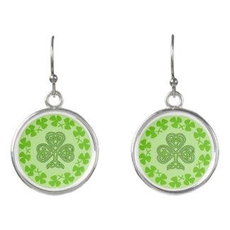 Shamrock Celtic Design Earrings