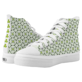 Shamrock Celtic Inspired Pattern St. Patrick's Day High Tops