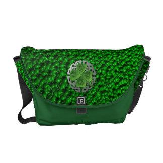 Shamrock - Celtic Knot - 4 Evangelists Messenger Bags