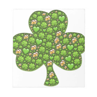 Shamrock Clover Beer St. Patrick's Day, Patty's Notepad