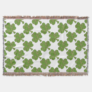 Shamrock Clover Beer St. Patrick's Day, Patty's Throw Blanket