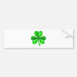 Shamrock Clover Leaf Bumper Sticker