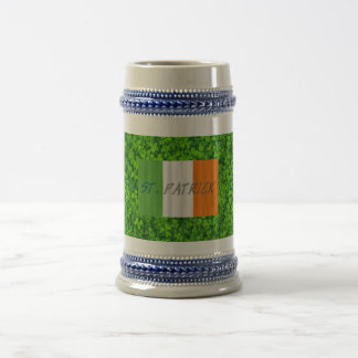 Shamrock Clovers Green Irish Symbol Ireland Beer Stein