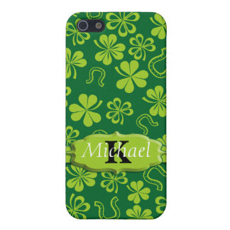 Shamrock Clovers & Horseshoes iPhone 5/5S Cases