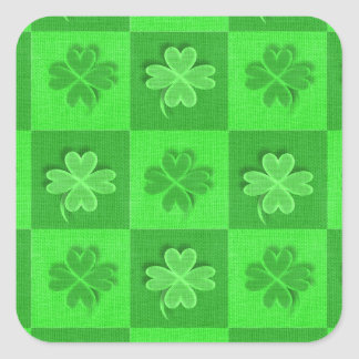Shamrock Clovers Square Sticker