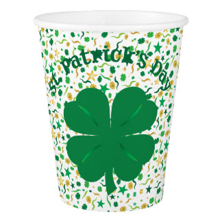 Shamrock Confetti St. Patrick's Day Cups
