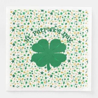 Shamrock Confetti St. Patrick's Day Dinner Napkins Disposable Napkin