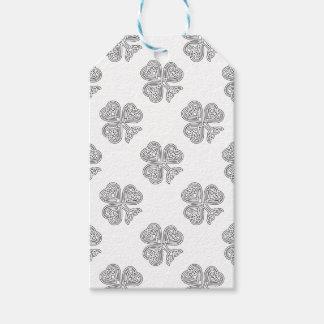 Shamrock Design Black and White Gift Tags