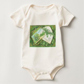 Shamrock Envelope Postcard Irish Flag Baby Creeper